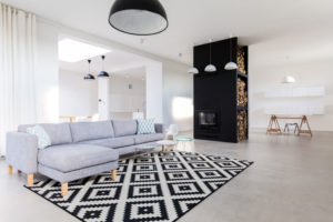 51171940 - spacious and tasteful living room in the house