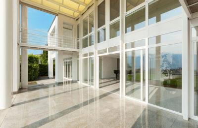 46190434 - architecture, wide veranda of a modern house, exterior